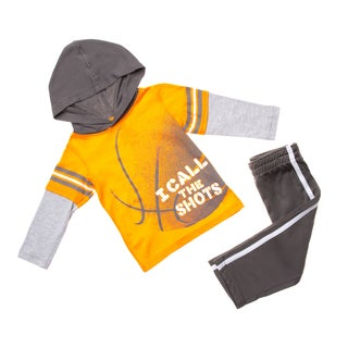 Infant Boys' 'I Call The Shots' Knit 2-piece Set with Tricot Pant