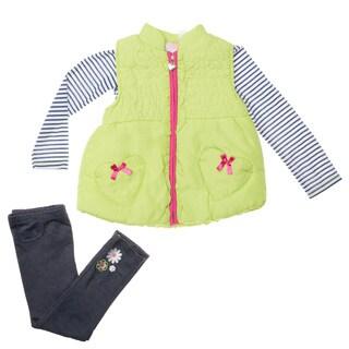 Toddler Girl's 3pc Vest Pant Set
