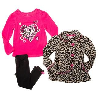 Kids Headquarters Infant Girls' 3-piece Animal Print Jacket and Pants Set