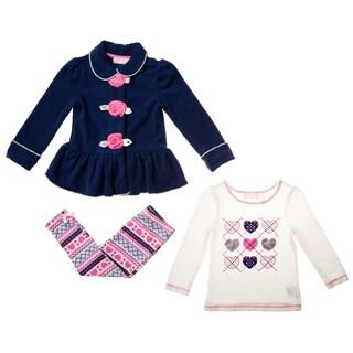Kids Headquarters Toddler Girls' 3-piece Jacket Pant Set