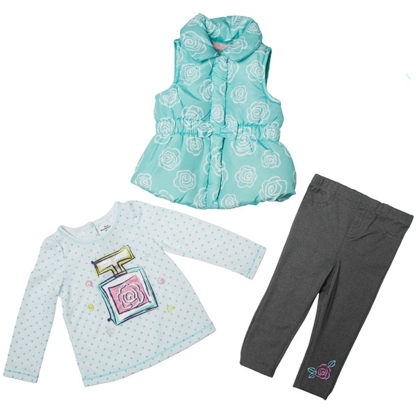 Kids Headquarters Infant Girls' 3-piece Vest Pant Set