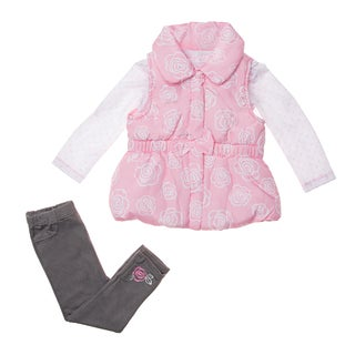 Kids Headquarters Infant Girl's 3-piece Vest and Pant Set