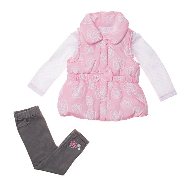 Kids Headquarters Girls' 3-piece Vest and Pants Set