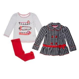 Kids Headquarters Girl's Fashion 3-piece Jacket Pant Set