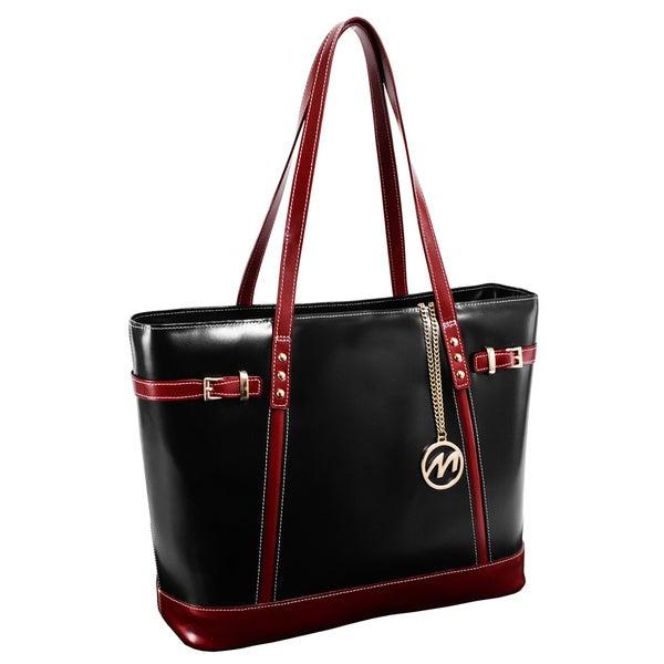 McKlein USA Black Serafina Fashion Tablet Tote Bag