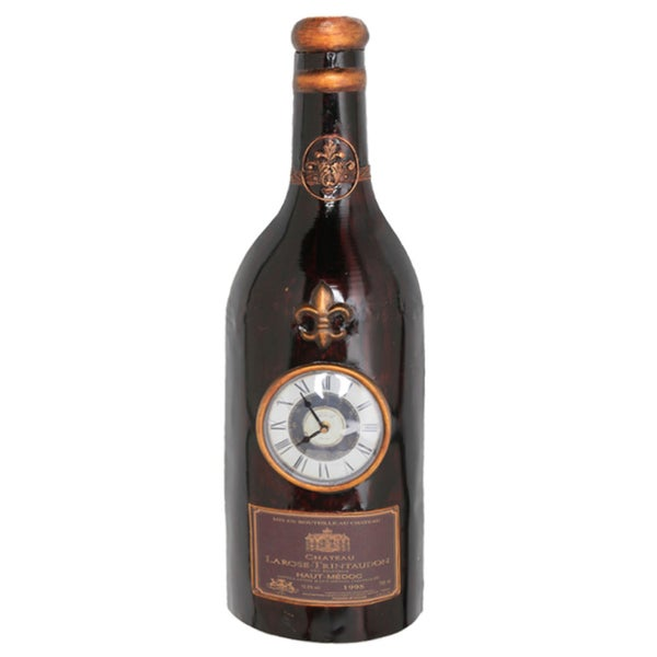 30-inch Iron Wine Bottle Wall Clock