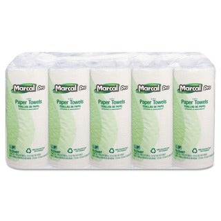 Marcal 100% Premium Recycled White Perforated Towels (Pack of 15 Rolls)