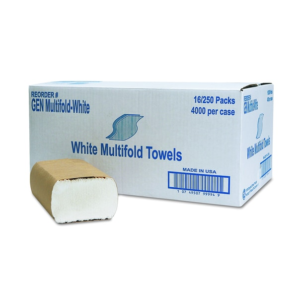 General Supply White Multifold Towel (16 Packs of 250 Towels)