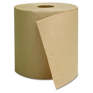 General Supply Brown Hardwound Towels (Pack of 6 Rolls)