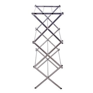 StorageManiac Compact Folding Water-resistant Steel Drying Rack, 3-tier Durable Clothes Drying Rack