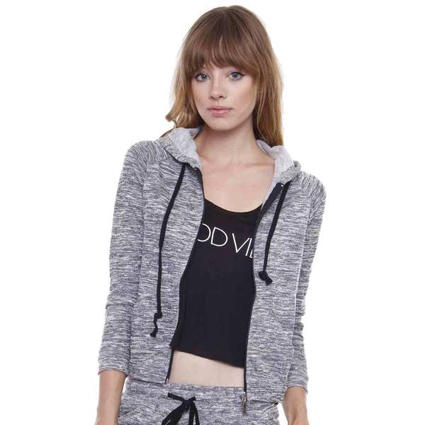 Juniors' Sporty Chic Grey Hoodie