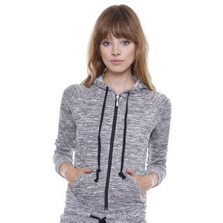 Juniors' Sporty Chic Grey Hoodie