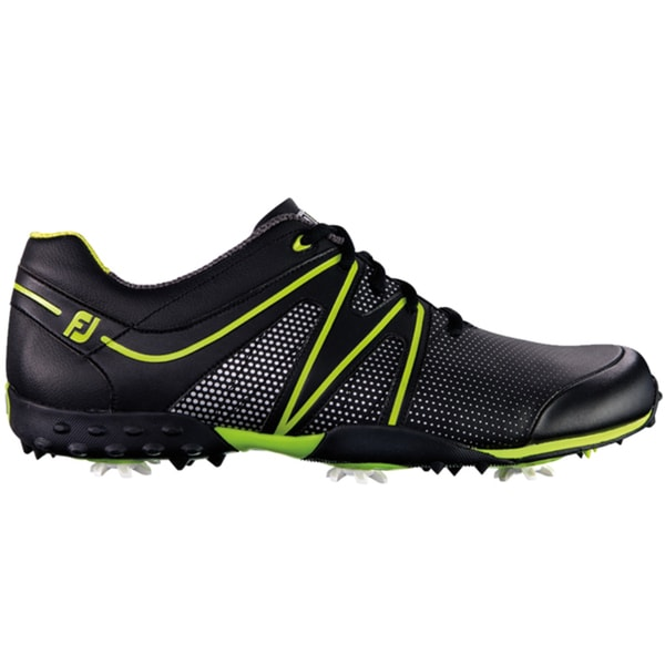 FootJoy Mens M Project Black-Lime Golf Shoes