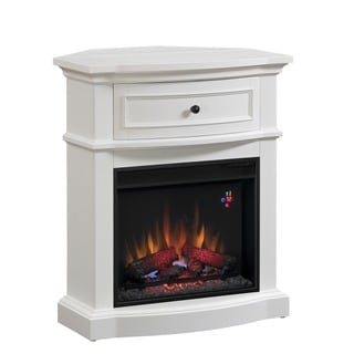 ClassicFlame Dual Mantel In White Finish