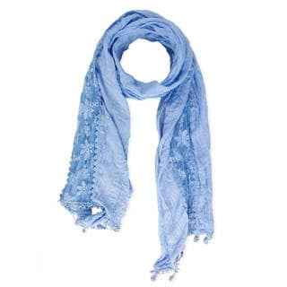 Saachi Women's Floral Lace Fringe Scarf (China)