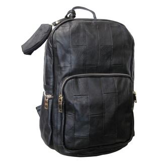 Amerileather Xanadu Black Leather Backpack