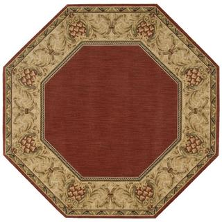 Nourison Grand Parterre Brick Octagon Rug (5'6 x 5'6)