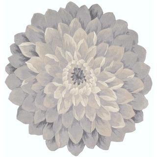 Nourison Bloom Blue Rug (4' x 4')
