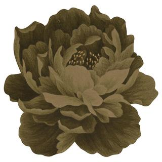 Nourison Bloom Green Rug (4' x 4')