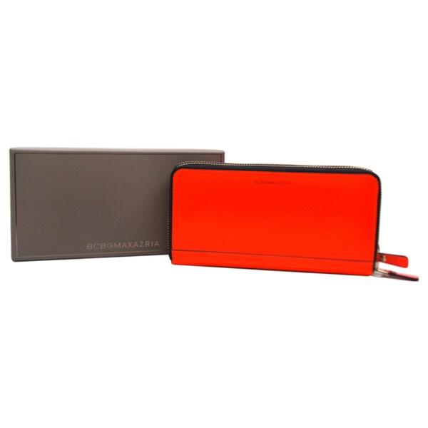 BCBG Max Azria Kaya NVP299SL Wallet Neon Orange