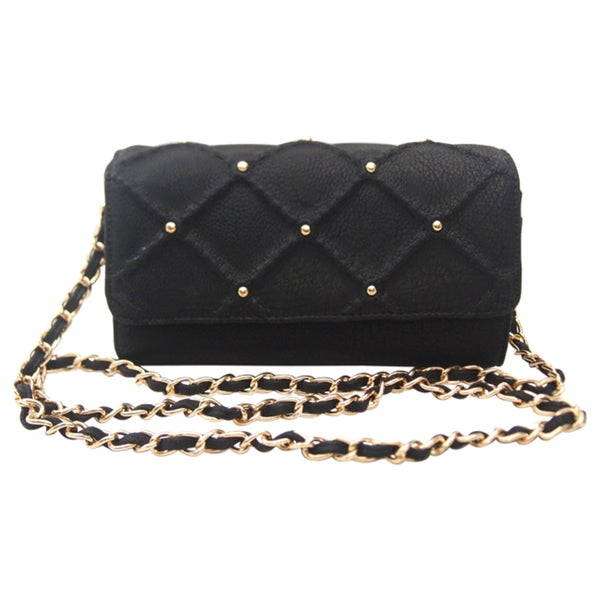 Big Buddha Lee Crossbody Satchel - Black