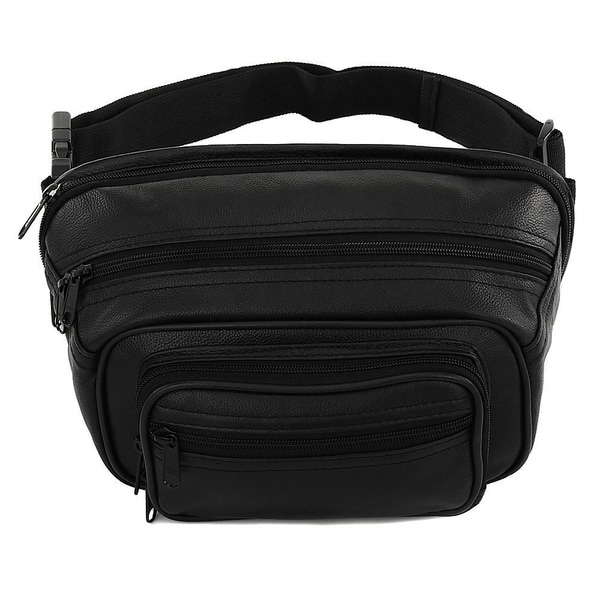 Men's & Women's Genuine Leather Conceal Carry Waist Bag with Dedicated Pistol Case and Expandable 50-inch Waist belt