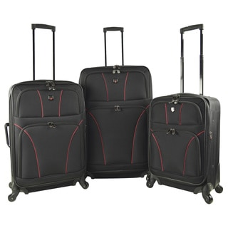 Traveler's Club Bowman 2.0 3-piece Expandable Softside Spinner Luggage Set