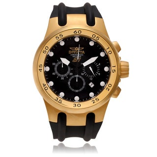Invicta Men's 18k Goldplated 1509 'S1 Rally' Strap Watch