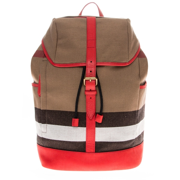 Burberry Canvas Check Trimdrifton Backpack