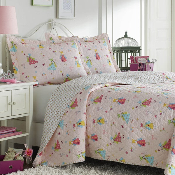 Laura Ashley Fun Fairies Reversible Quilt Set