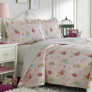 Laura Ashley Fun Fairies Reversible Cotton 3-piece Quilt Set