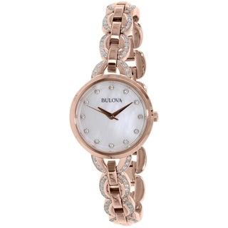 Bulova Women's 98L207 Rose Gold Stainless-Steel Quartz Watch