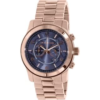 Michael Kors Men's Large Runway MK8358 Rose Gold Stainless-Steel Quartz Watch