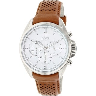 Hugo Boss Men's 1513118 Brown Leather Quartz Watch