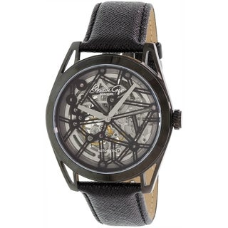 Kenneth Cole Men's New York KC8083 Black Leather Automatic Watch