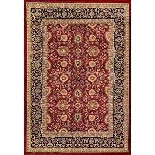 Renaissance Red/Black Traditional Print Area Rug (3'3 x 5'3)