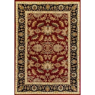 Renaissance Red Traditional Border Area Rug (5'3 x 7'7)