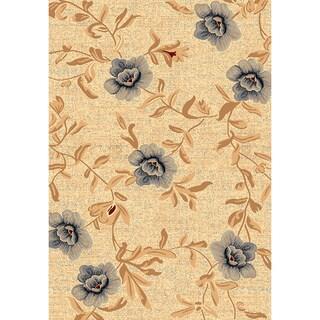 Renaissance Cream Floral Area Rug (5'3 x 7'7)