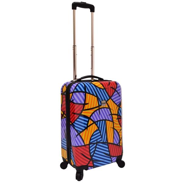 U.S. Traveler by Traveler's Choice 20-inch Multi-Pattern Hardsided Spinner Suitcase