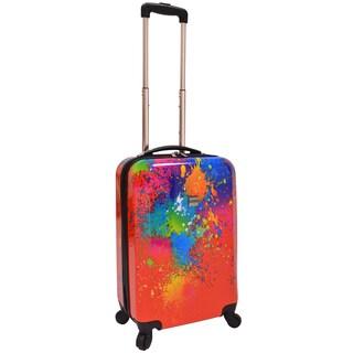 U.S. Traveler by Traveler's Choice 20-inch Paint Splatter Hardsided Spinner Suitcase