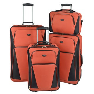 U.S. Traveler by Traveler's Choice Tipton 4-piece Lightweight Rolling Luggage Set