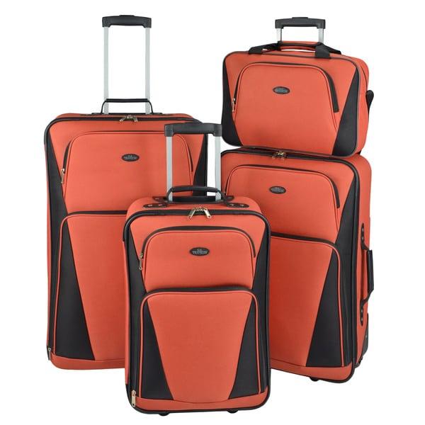 U.S. Traveler by Traveler's Choice Tipton 4-piece Lightweight Rolling Luggage Set
