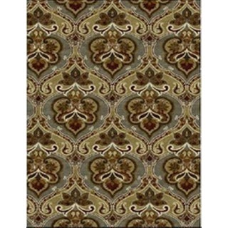 Juniper Floral Ikat Brown Area Rug (3' x 5')
