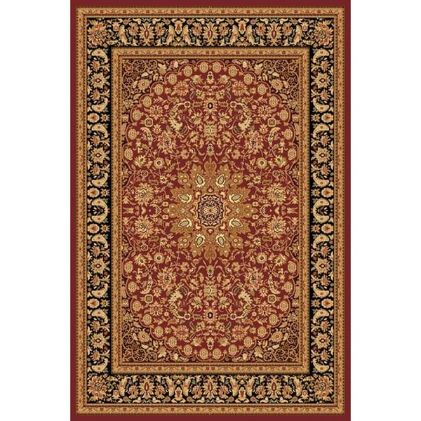 Renaissance Red/Black Traditional Medallion Area Rug (7'10 x 10'10) -  Dynamic Rugs