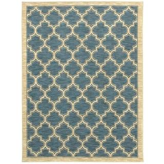 Renaissance Slate Lattice Area Rug (7'10 x 10'10)