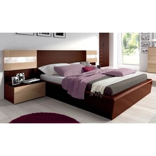 Luca Home Wenge/Cappucino Storage Bed