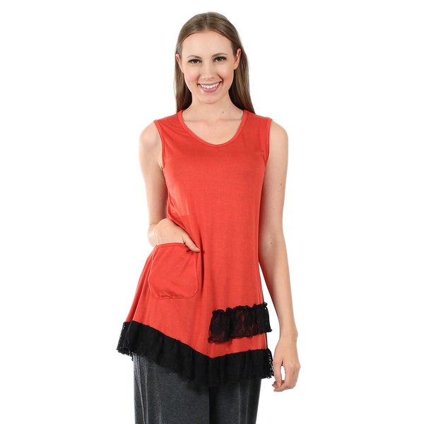 Firmiana Women's Sleeveless Rust Top