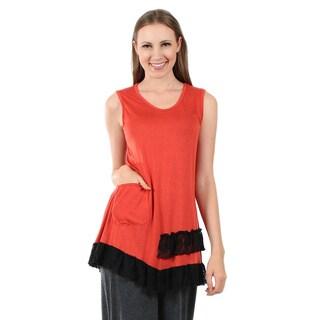 Firmiana Women's Sleeveless Rust Top