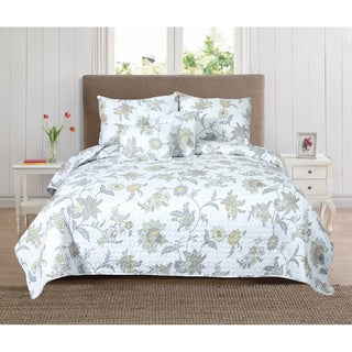Vivienne Collection Printed 5-Piece Quilt Set