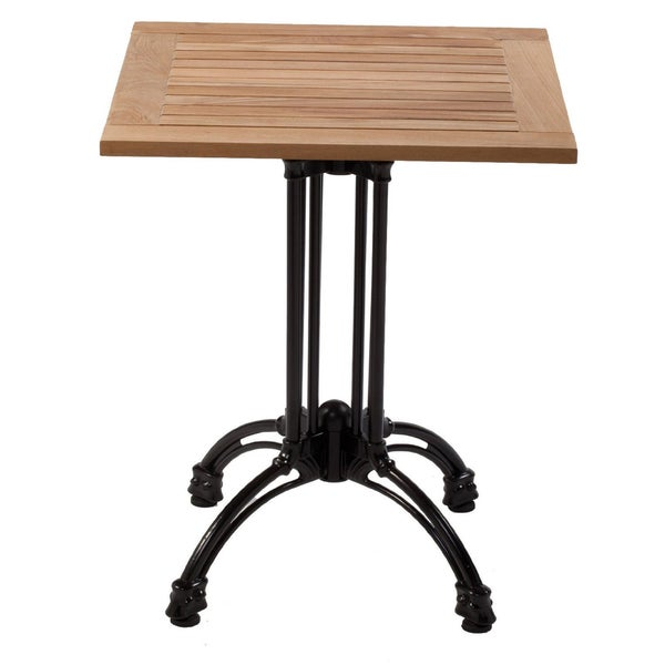 60 Inch Square Pedestal Table: 32-inch Square Pedestal Table Teak Table Top Cast Aluminum Table Base